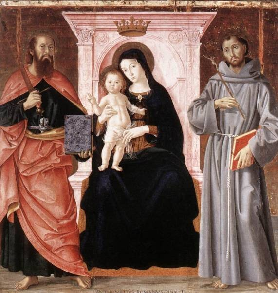 Madonna Enthroned With The Infant Christ And Saints
